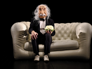 Affiche du spectacle A peu près égal à Einstein ?