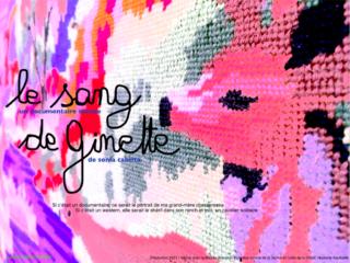 Affiche du spectacle Le sang de Ginette (séance d'écoute sonore du FAANA)